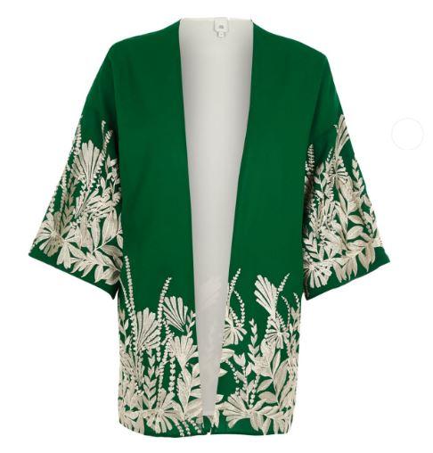 River Island Green Floral kimono £46