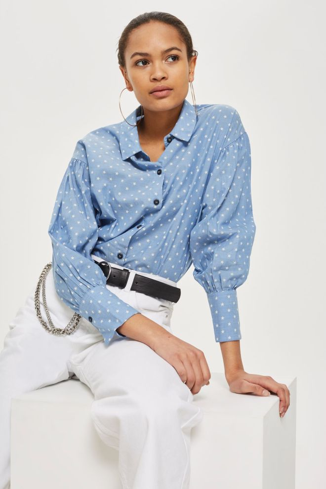 Topshop Star Embroidered Shirt £26