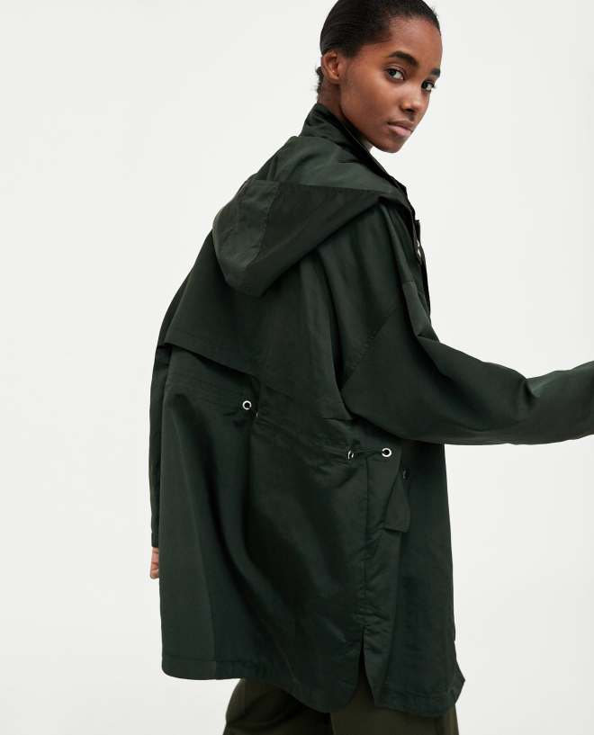 Zara flowing raincoat £69.99