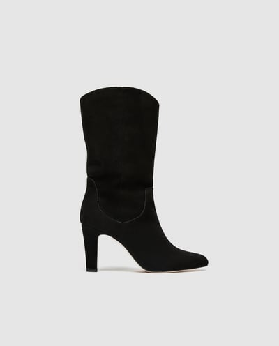Zara leather boots £99.99
