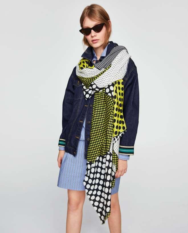 Zara polka dot scarf £17.99