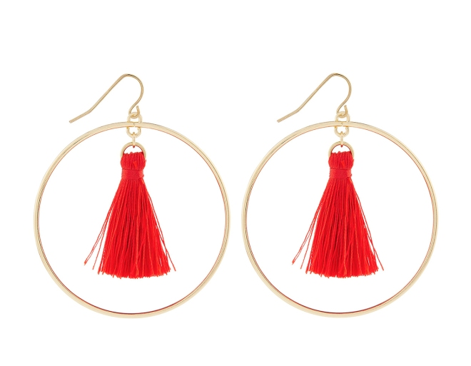 Accessorize hoop tassle earrings £7