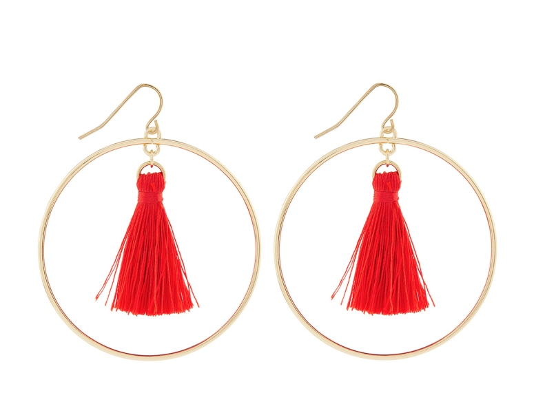 Accessorize hoop tassle earrings £7