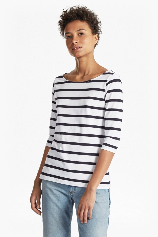 French Connection tim-tim-stripe-3-4-length-sleeve-top £17 reduced from £25