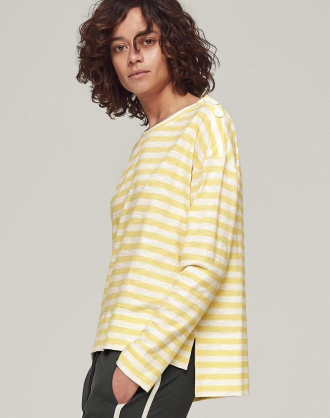 ME+EM cotton stripe boxy top £55
