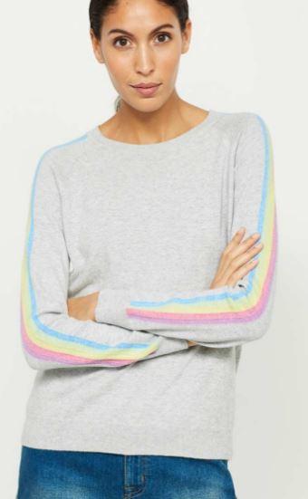Mint Velvet rainbow stripe sleeve sweater £69