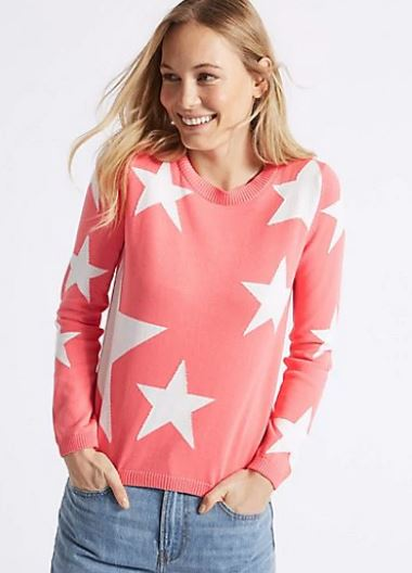 M&S Pure cotton star print jumper £29.50