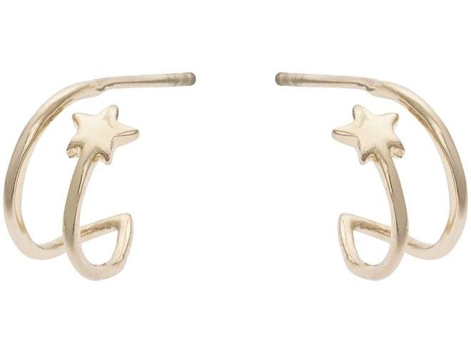 Oliver Bonas Linear Star hoop earrings £22