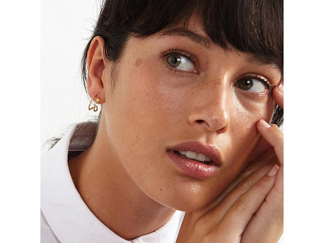 Oliver Bonas Linear Star hoop earrings £22