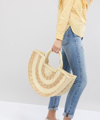 South Beach at Asos straw bag £25