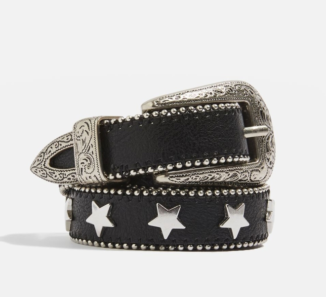 Topshop PU Star stud belt, £24