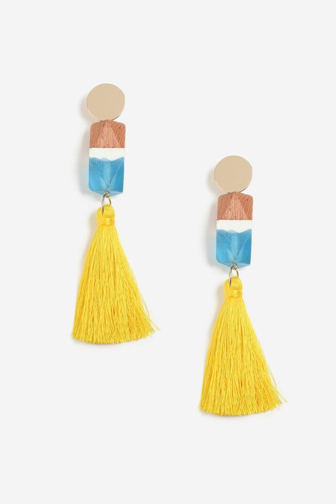 Topshop resin & tassel earrings £15