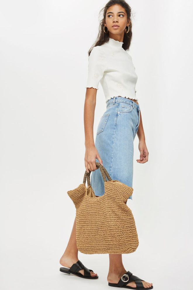 Topshop straw tote £22
