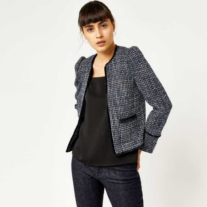 Warehouse Tweed jacket £40, was £56