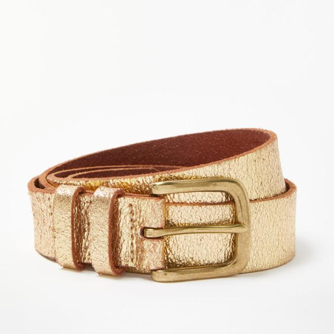And.Or Gold Leather Belt £14, was £28