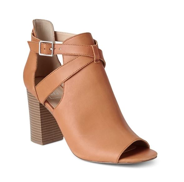 Gap open toe buckle booties £79.95