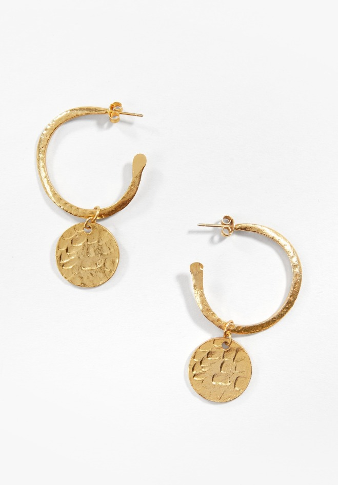 Hush Hoop Coin Earrings £22