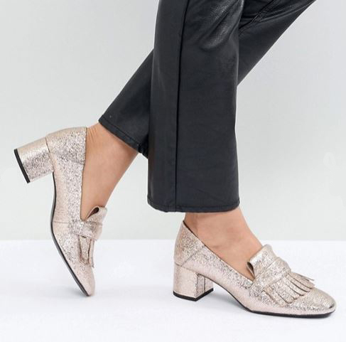 Mango at Asos Metallic loafers £59.99