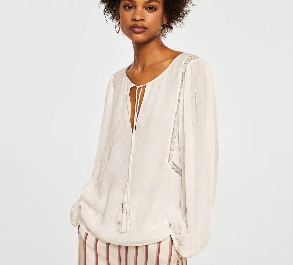 Mango Plumetti blouse £49.99