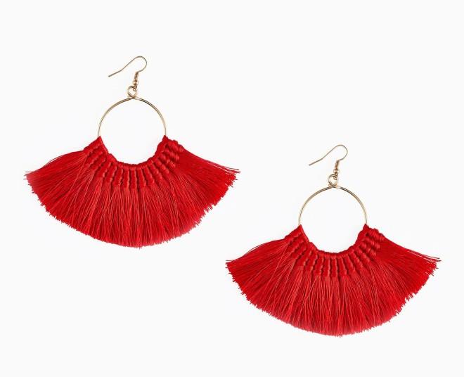 Next red tassel earrings £10