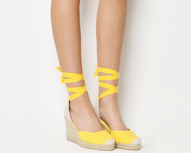 Office Marmalade yellow espadrilles £49