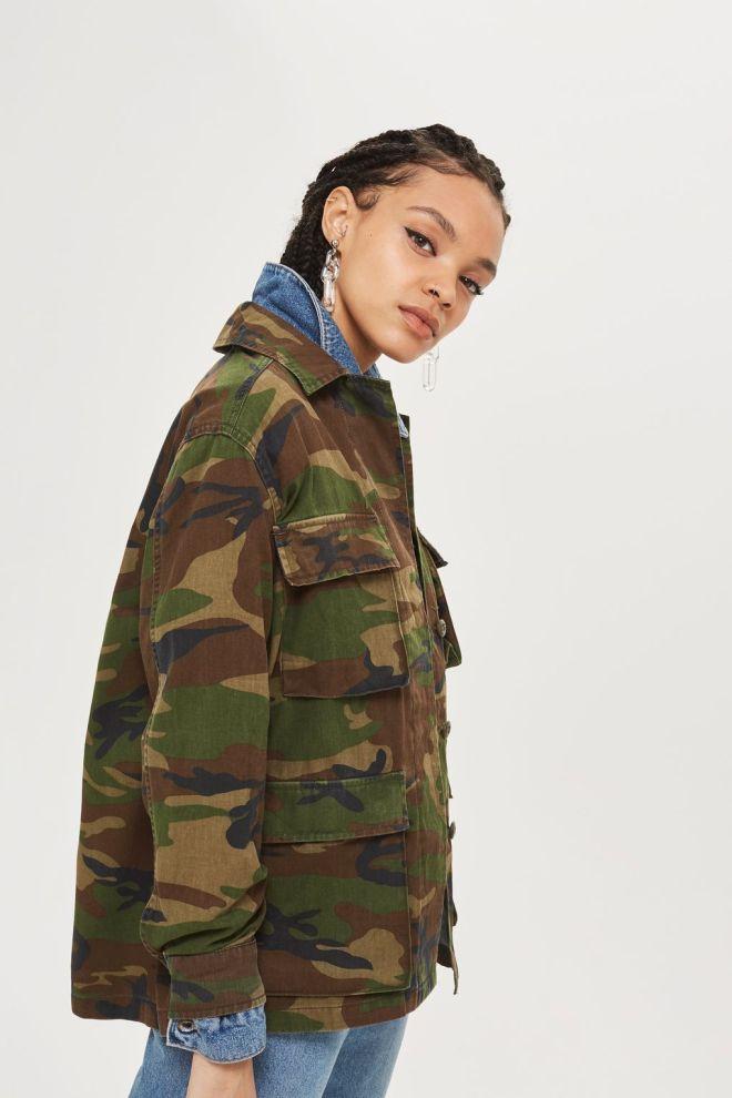 Topshop camo jacket £40