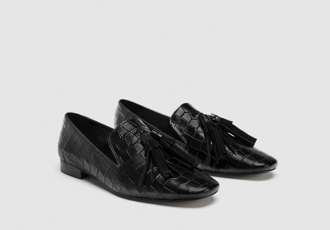 Zara black loafers £69.99