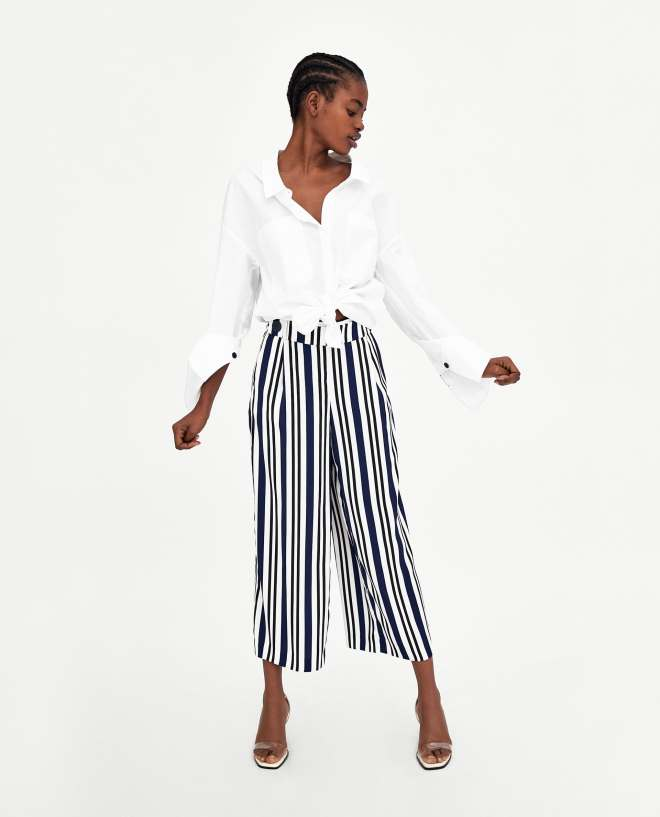 Zara flowing cropped trousers £19.99