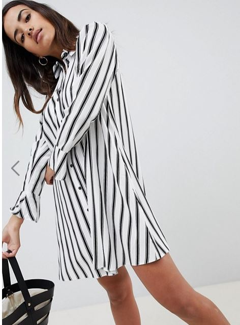 Asos Design stripe shirt dress £32