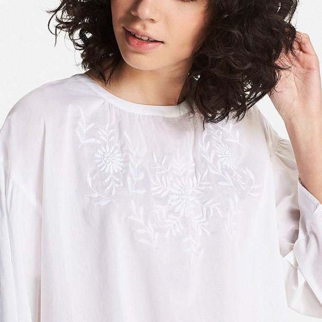 Cotton embroidered blouse £24.90