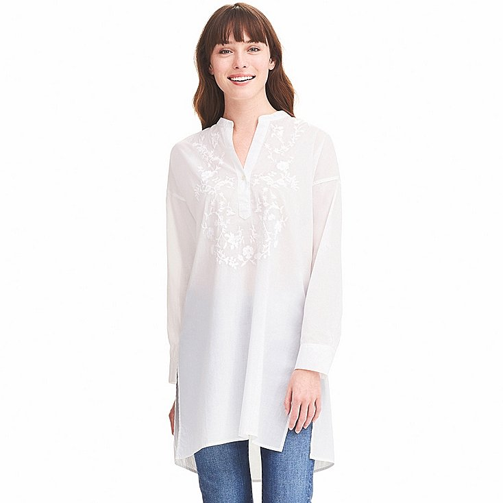 Embroidered cotton long sleeve tunic £24.90