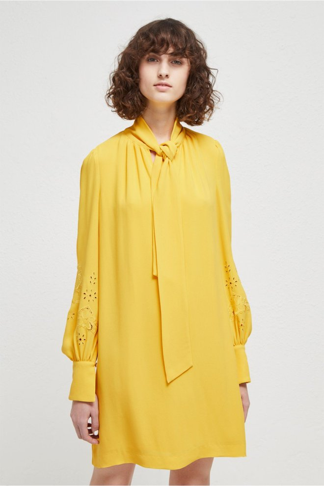 French Connection Arimi tie neck dress £130