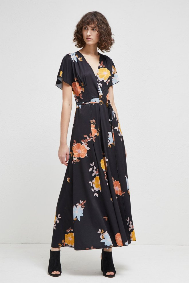 French Connection Shikoku spaced jersey maxi dress £95