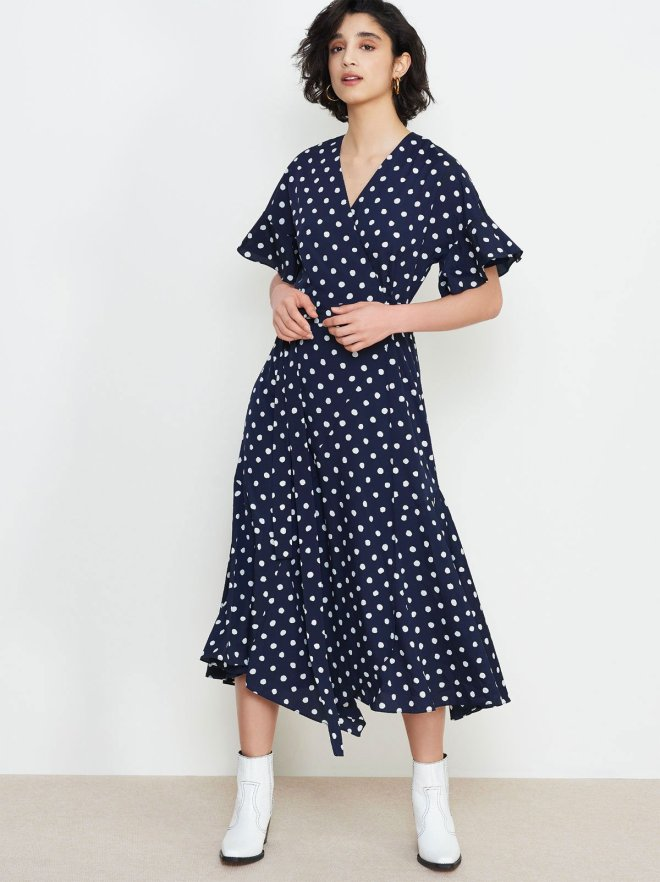 KITRI-Studio-Eliana-Polka-Wrap-Dress-Front £145
