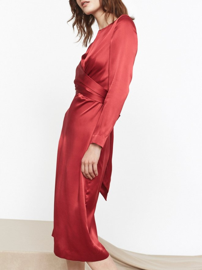 KITRI-Studio-Simone-Silk-Tie-Waist-Dress-Side £195
