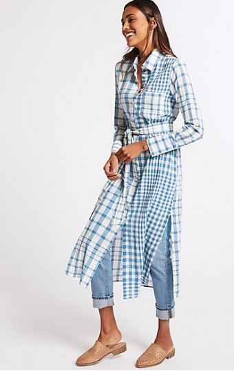 M&S checked shift maxi dress £35