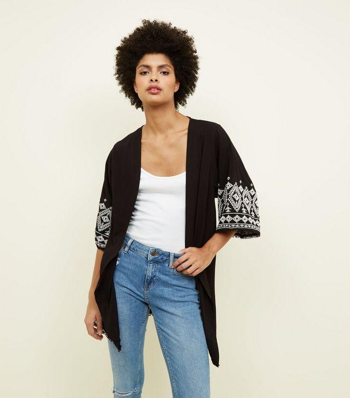 New Look black aztec sleeve £24.99
