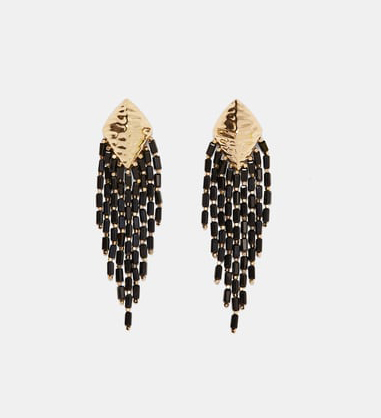Zara fringed metal earrings £12.99