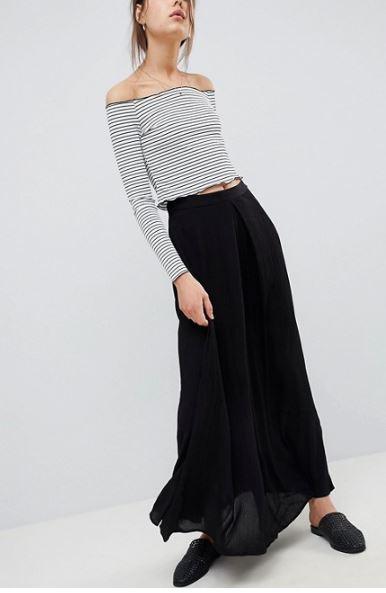 ASOS DESIGN crinkle maxi skirt £25