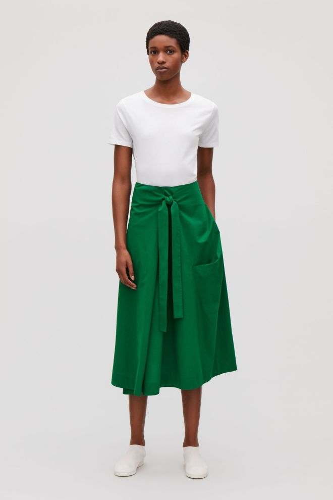 Cos wrap around skirt £69