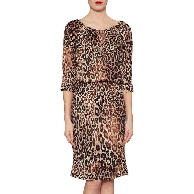 Gina Baccconi Ines Leopard Print dress £90, was £180