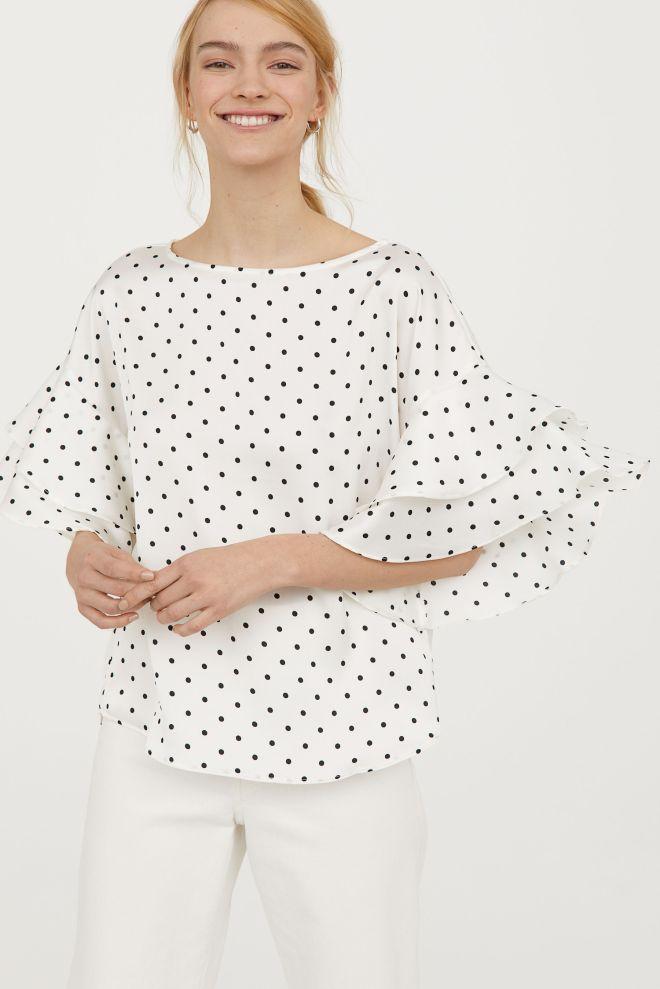 H&M Flounced sleeve blouse £12.99