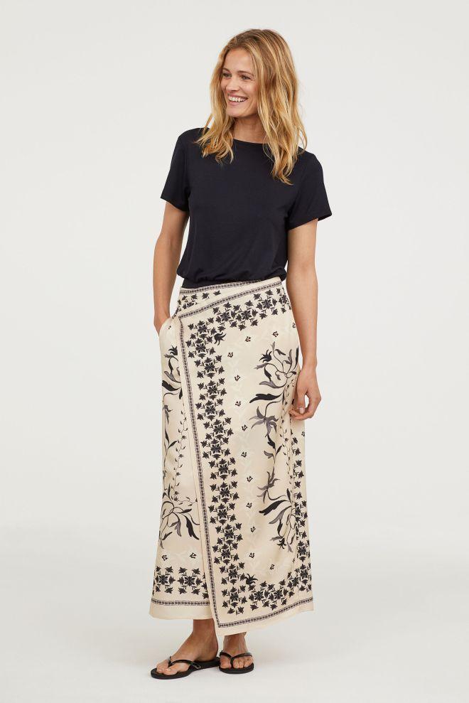 H&M wrap print skirt £39.99