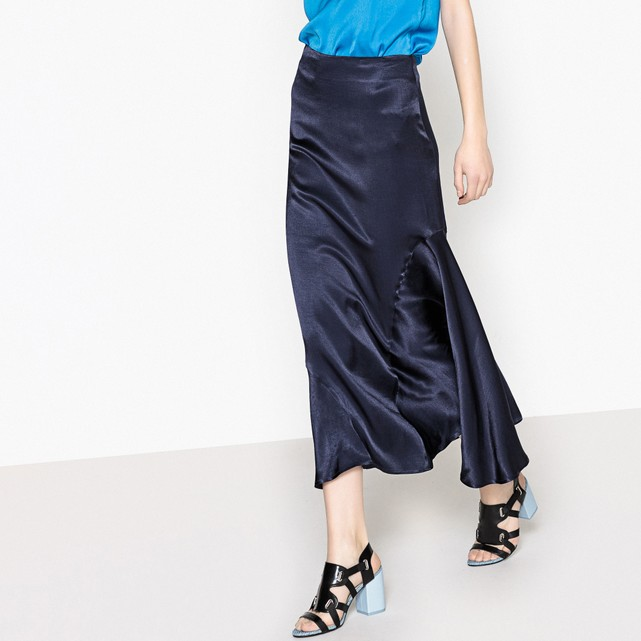 La Redoute silk style ruffled midi skirt £16, was £59
