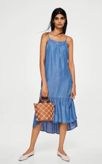 Mango frilled denim dress £29.99
