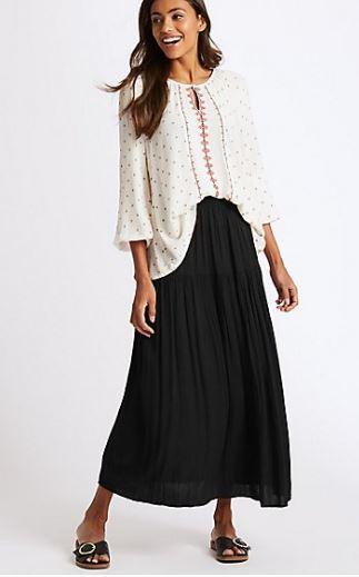 M&S crinkle maxi skirt £25