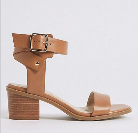 M&S Leather block heel sandal £49.50