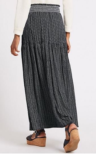 M&S Printed maxi skirt £27.50