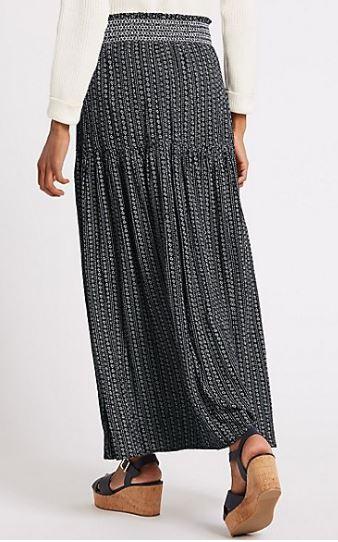 M&S Printed maxi skirt £27.50