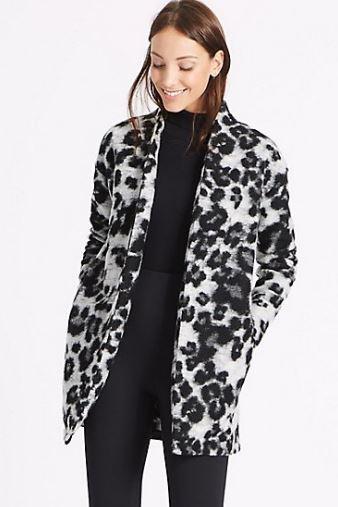 M&S Textured Animal Print Coat £35